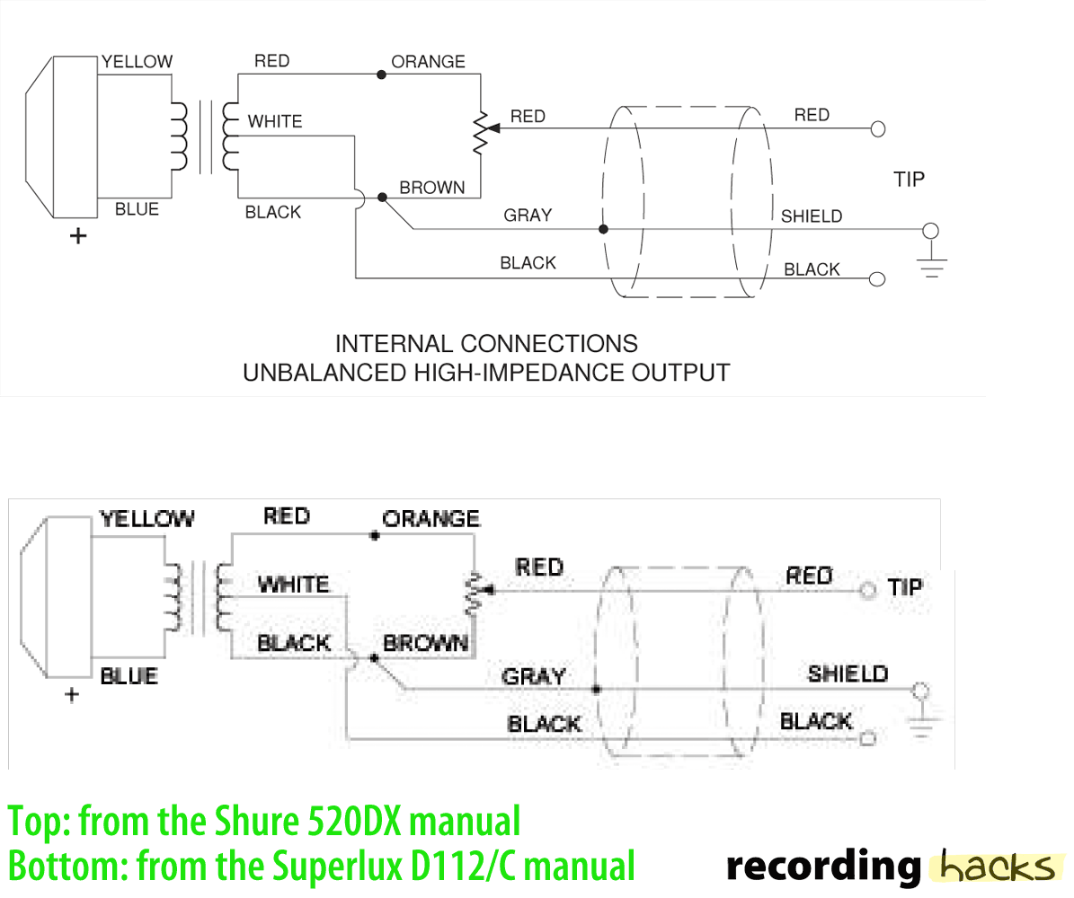 harmonica mic copy superlux d 112 c recordinghacks com shure microphone wiring diagram at sewacar.co