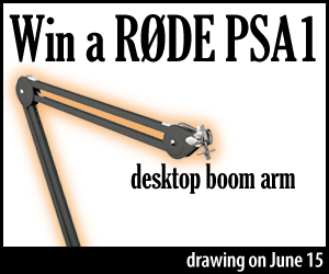 win a Rode PSA1 boom arm
