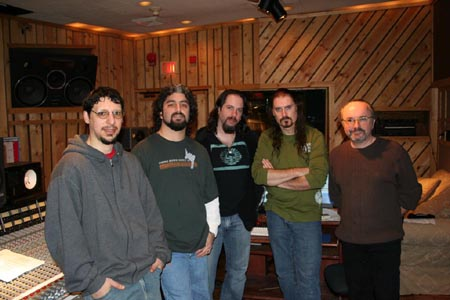 Dream Theater and Paul Northfield at Avatar Studios, working on Systematic Chaos