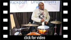 Dante Roberson demos the Kickport at NAMM 2009