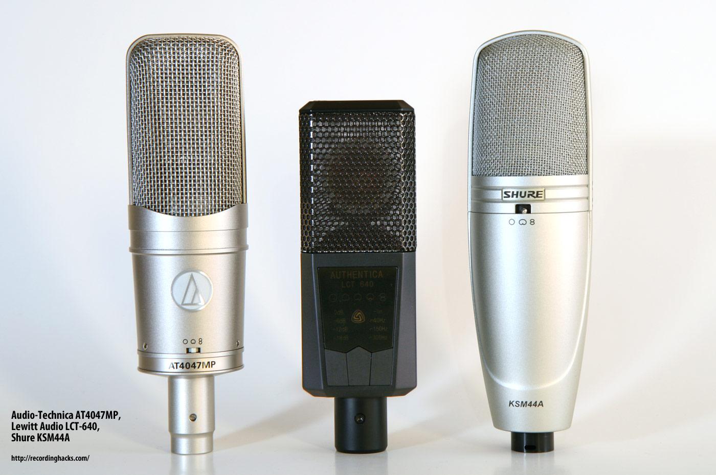 acoustic guitar mic shootout ksm44a at4047mp v69me and more recording hacks. Black Bedroom Furniture Sets. Home Design Ideas