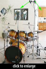 Overhead mic configuration: ORTF