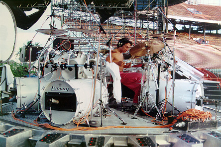 Alex Van Halen's long bass drums