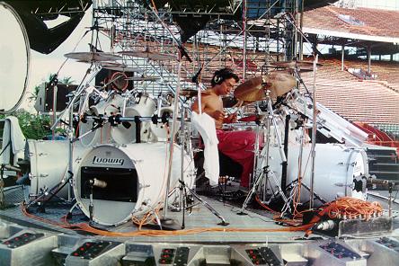 Alex Van Halen's long bass drums