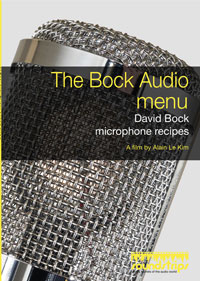 Bock Audio Menu: David Bock Microphone Recipes