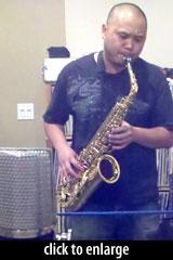 Jon Cruz on sax