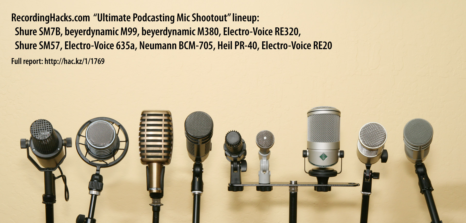 ultimate podcast microphone shootout   recording hacks