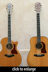 Michael Capella's two guitars