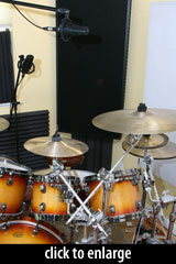 AT4050 on drum OH, in Recorderman configuration