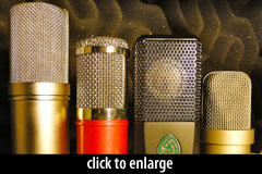 Four condenser mics for voiceover