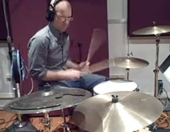 George Hrab tracking drums at BeSharp