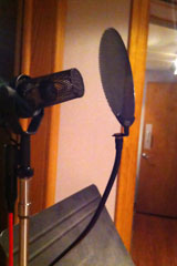 SM7B with pop filter