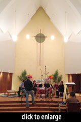 String Arcade session, location recording in a church
