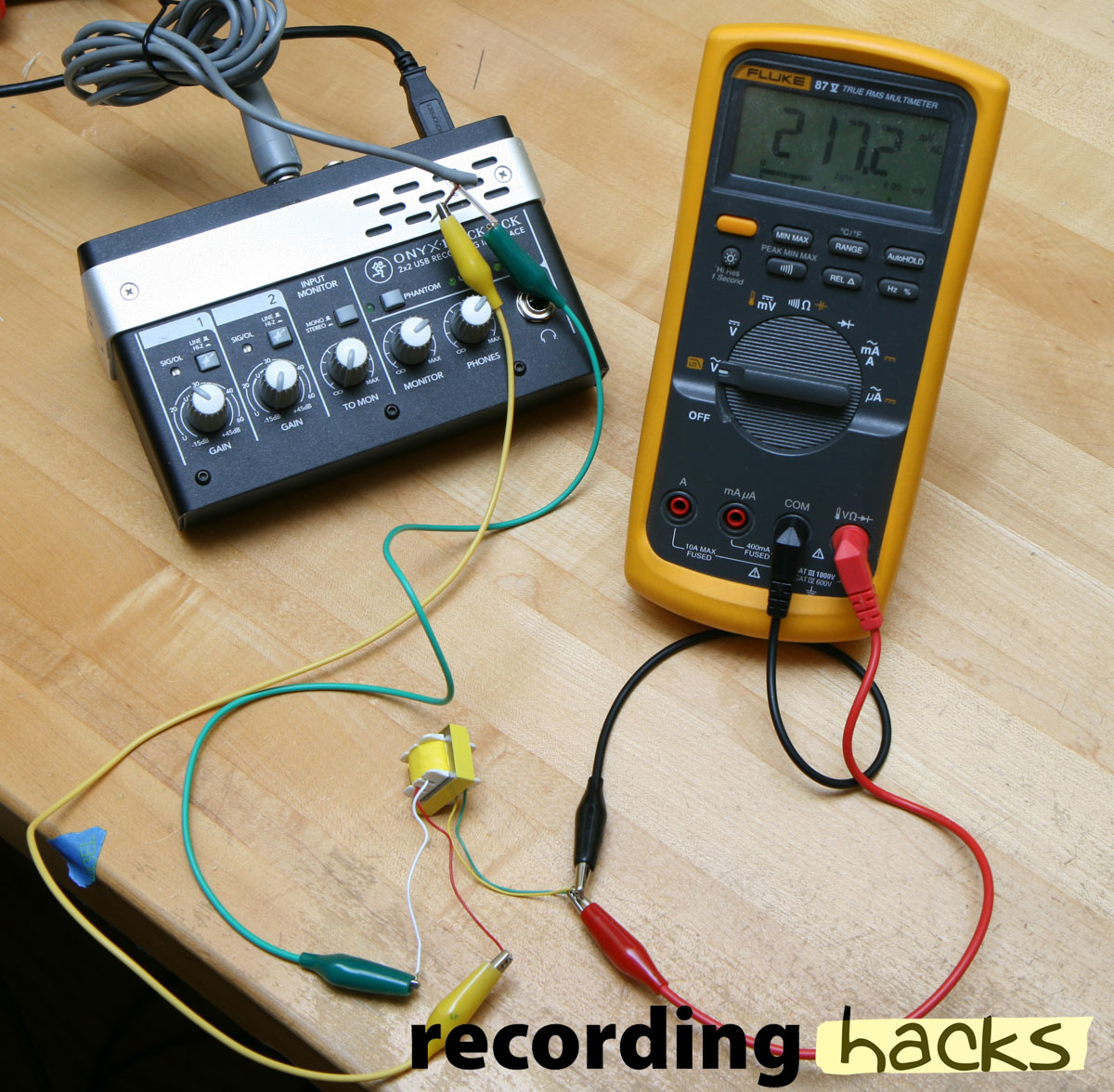 How To Measure Transformer Ratio Recording Hacks Multi Tone Generator Sound Projects It Was Taken From An M Audio Luna Or Sterling St55 Groove Tubes Gt55 Id Lost Track Of Which But They All Look