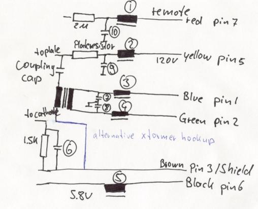M92.1 S EMI/RFI removal schematic