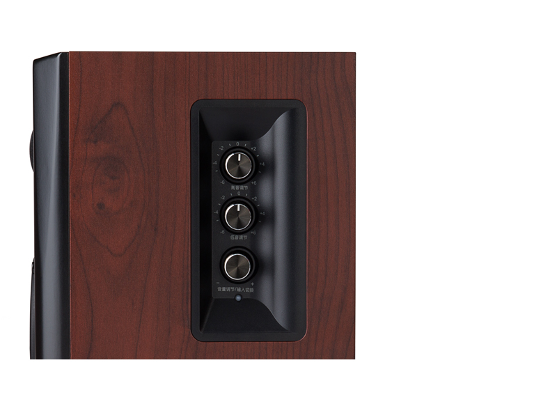 Edifier S350DB tone and volume controls